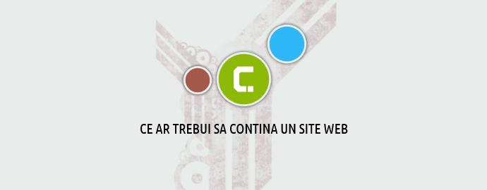 Ce se pune pe un site web sau ce ar trebui sa contina un site web